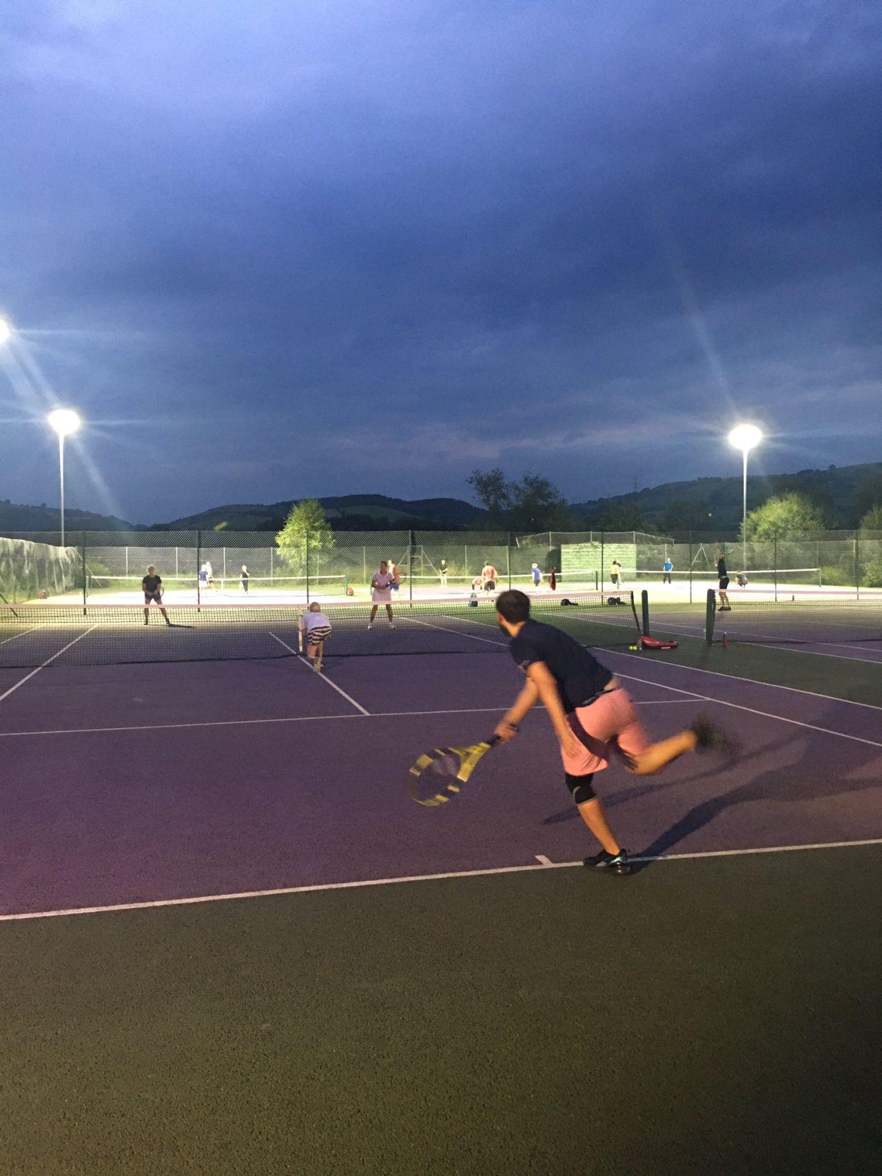 Caerphilly Tennis Floodlights: Case Study